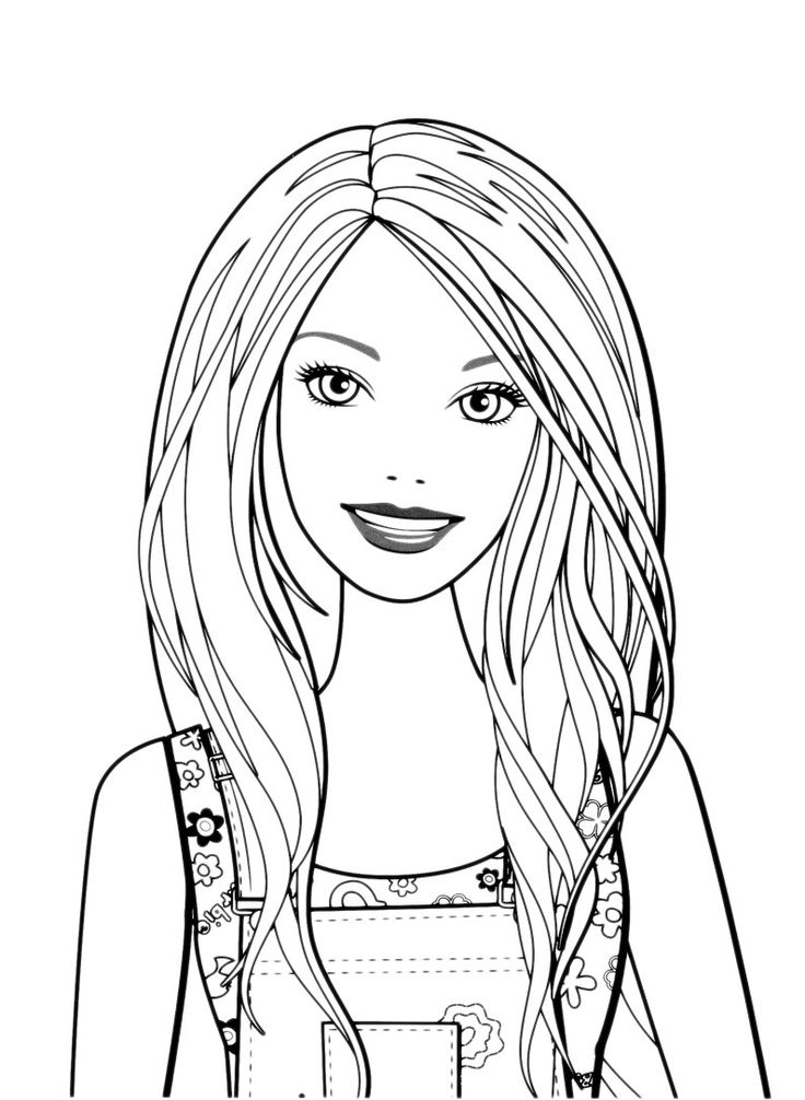 74 Coloring Pages Cute Princess