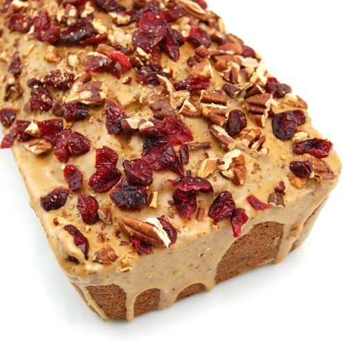 Espresso Pound Cake with Cranberries and Pecans