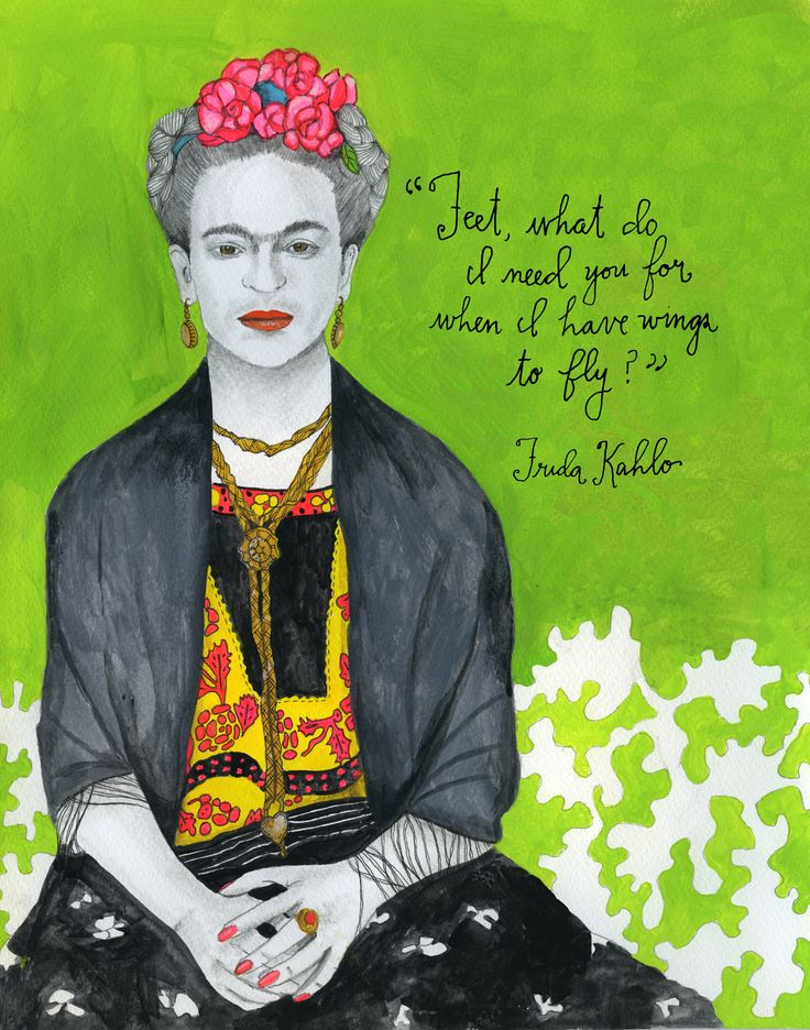 Mexican painter Frida Kahlo (July 6, 1907 – July 13, 1954) remains best-known for her vibrant self-portraits, which comprise 55 of her 143 paintings and combine elements from traditional Mexican art with a surrealist aesthetic.