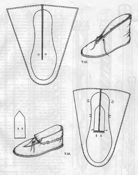 Выкройка обуви своими руками