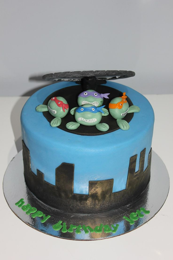 ninja turtle themed cake