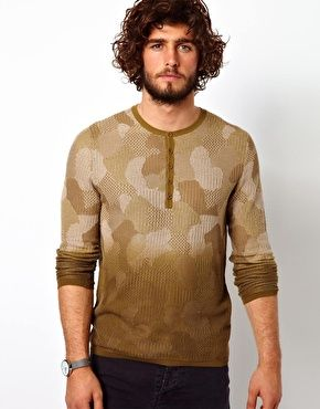 United Colors Of Benetton Camo Sweater  ASOS