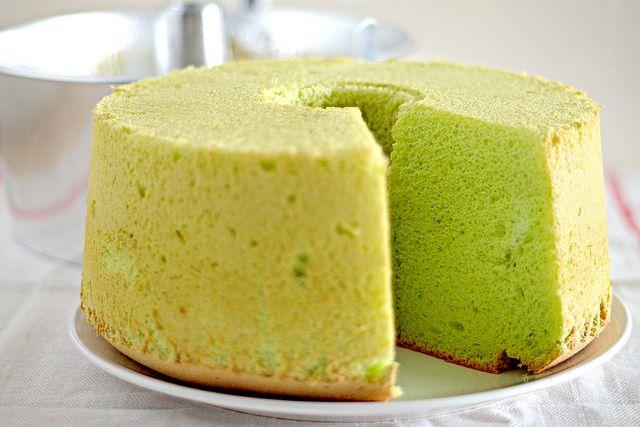pandan-chiffon-cake   Cakes   Pinterest