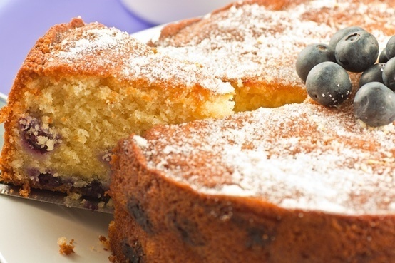 Blueberry & Lemon Tea Cake | sweets | Pinterest