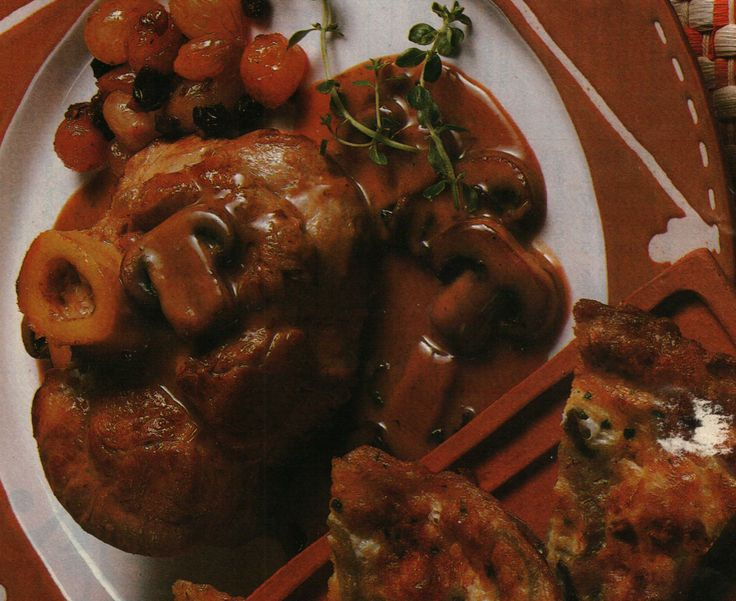 Veal Shanks with Mushrooms and Marsala | veal marsala | Pinterest