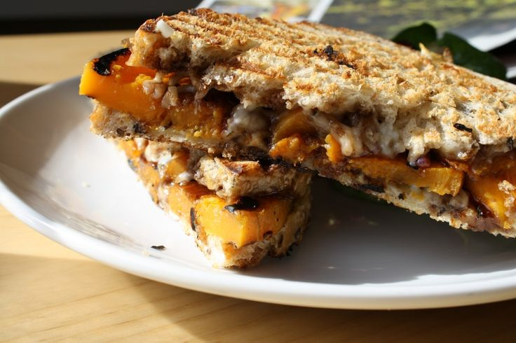 Roasted Butternut Squash Panini with Goat Cheese and Maple Pear ...