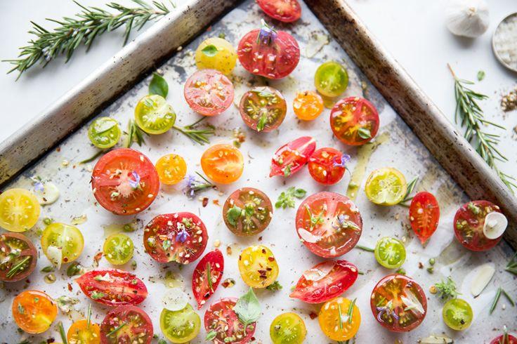 Slow-Roasted-Tomatoes / @JuliesKitchen | Recipes - Veggies | Pinterest