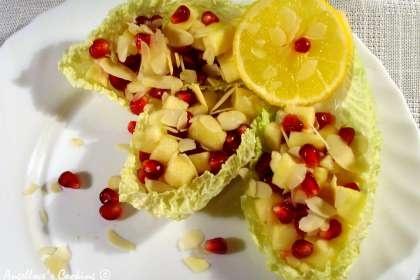 Petit chef : Apple and pomegranate fresh salad http://en.petitchef.com ...