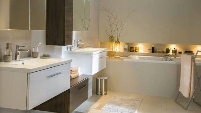 Salle de bains zen castorama  D&co ⌂ SdB  Pinterest