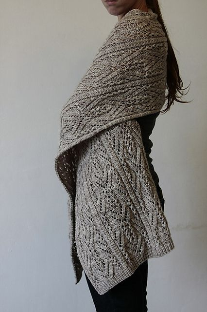 Topiary knit Shawl Wrap!