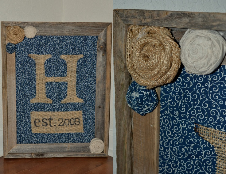 Burlap Monogrammed Wall Decor For The Home Pinterest