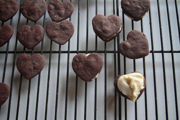 Chocolate Heart Sandwich Cookies | Eat - Sweet | Pinterest