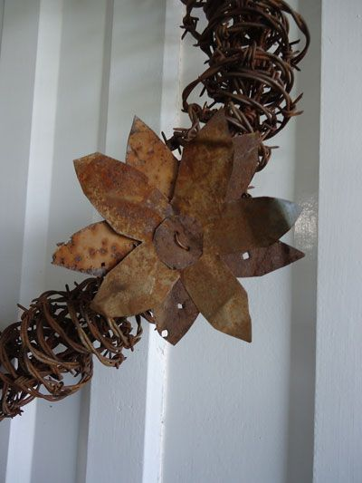 Rusty Barbed Wire Craft Ideas