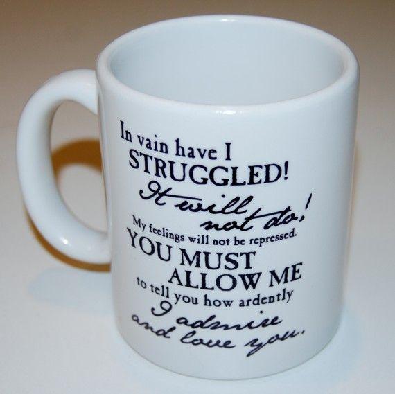 Mr. Darcy mug. I smell a literary mug collection coming on...