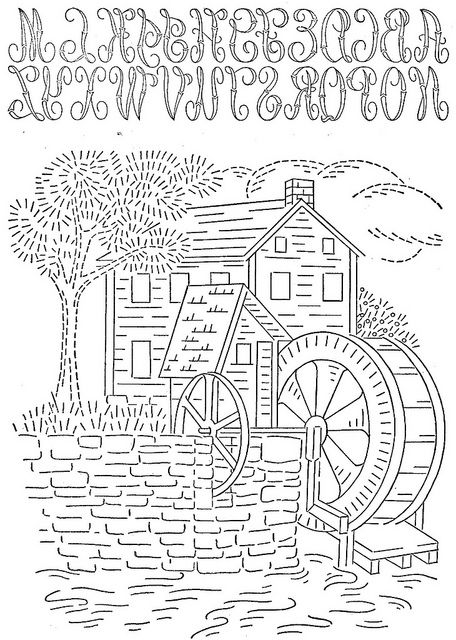 water wheel Colouring Pages (page 2)
