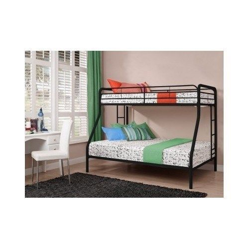 Twin Over Full Bunk Bed Kid Teen Bedroom Furniture Space Saver