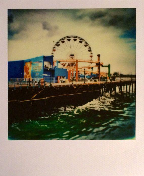 Polaroid Print - Santa Monica Pier: pinterest.com/pin/470766967270132555