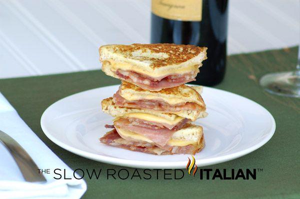 Simply Bacon Monte Cristo Finger Sandwiches