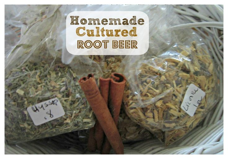 homemade cultured root beer...a refreshing, probiotic drink!