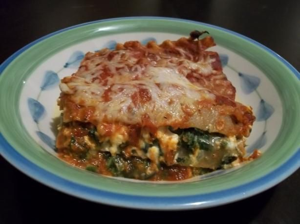 mushroom with spinach and feta lasagna vegetarian regular mushrooms ...