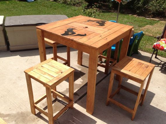 Pub Breakfast Patio Table W Built In Cooler And