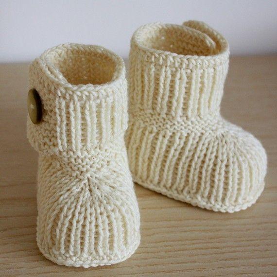 Knitting Pattern PDF file Winter Baby BOOTS