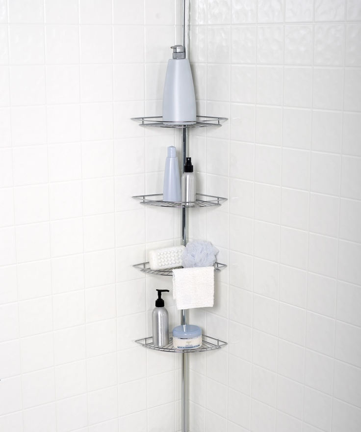 Shower Caddy Corner White Images