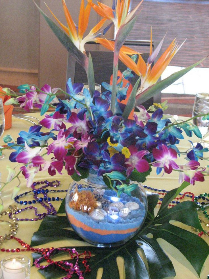 Luau Centerpiece Hostess With The Mostess Pinterest