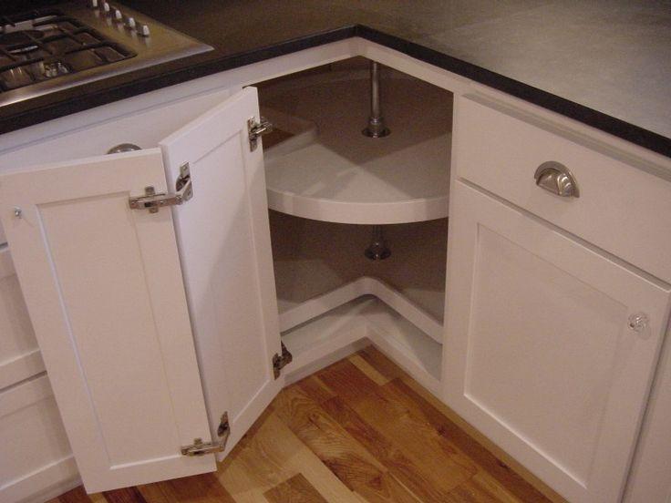Corner kitchen cabinet storage kitchens pinterest Kitchen counter corner storage
