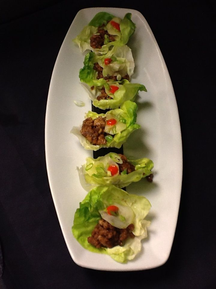Mini Asian Chicken Lettuce Wraps | Bridesmaid | Pinterest