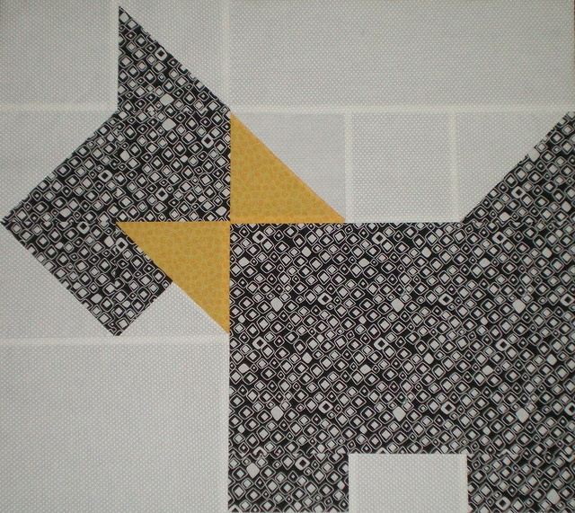 Quilt Pattern For Scottie Dog : Scottie dog quilt - wip block quilt block patterns Pinterest