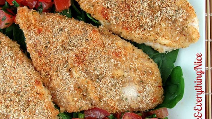 Parmesan-Crusted Bruschetta Chicken | Yumm!!! | Pinterest