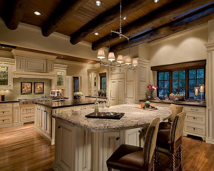 Kitchen like the cabinet color double islands ceiling for Kitchen ceiling colors