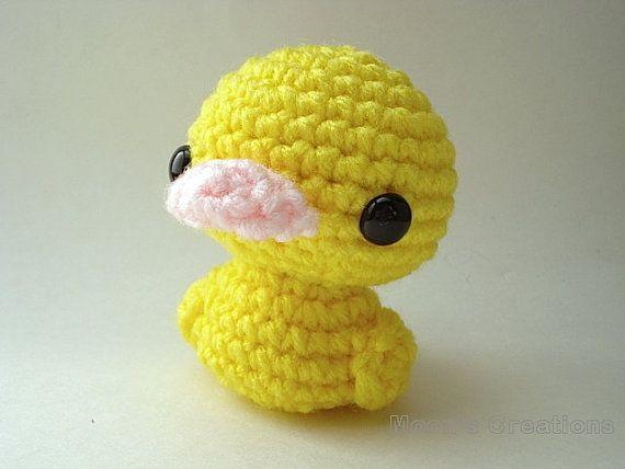 Amigurumi Duck : Duckling Amigurumi - Yellow Duck Doll easter amigurumi ...
