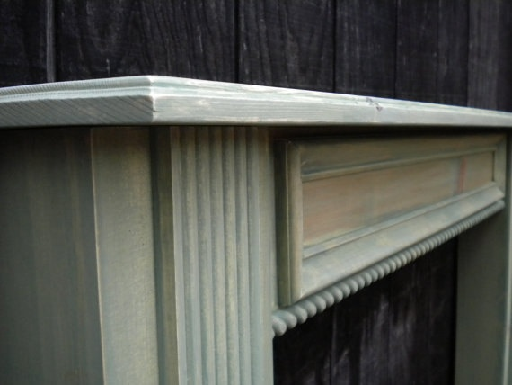 Vintage Distressed Fireplace Mantel Display Shelf