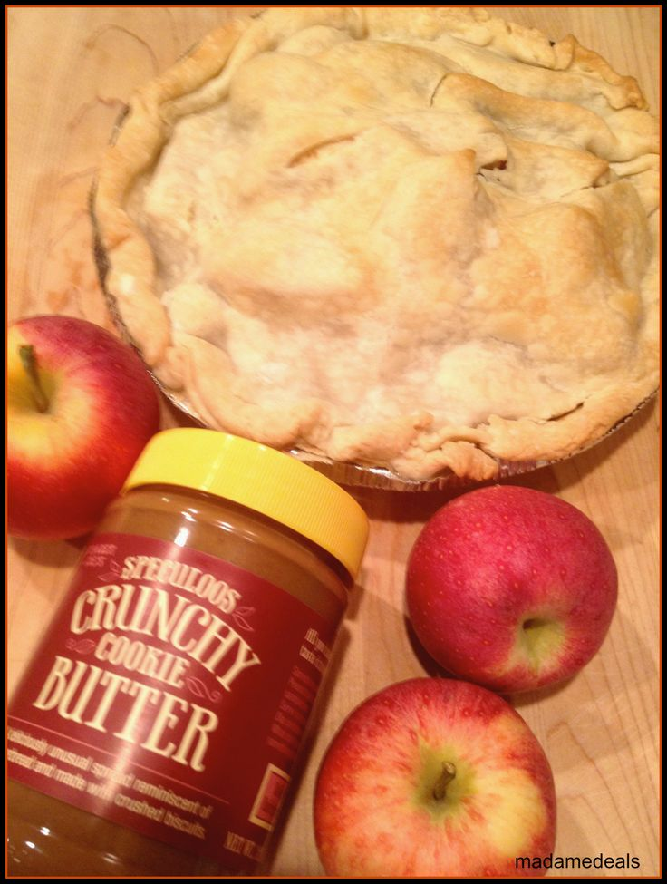 Apple Pie Recipe with a Speculoos Cookie Butter #recipes #pie http://madamedeals.com/apple-pie-recipe-with-a-secret-ingredient/ #inspireothers
