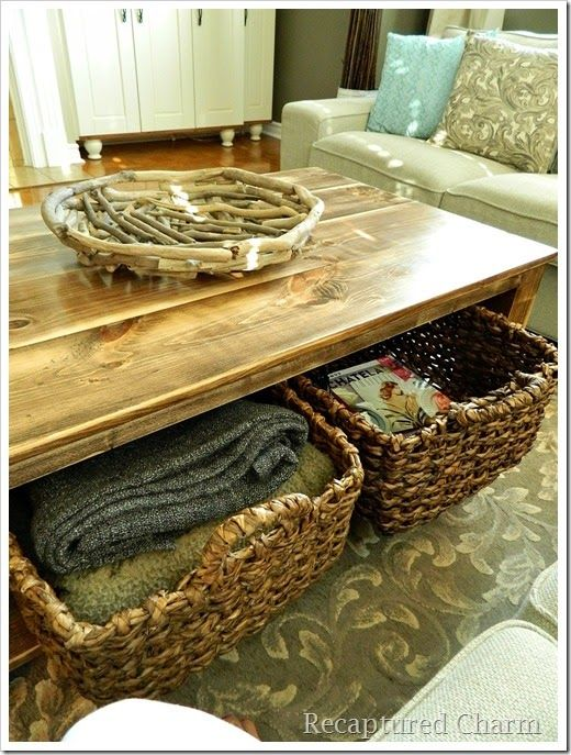 Do It Yourself Rustic Coffee Table Home Improvement Pinterest