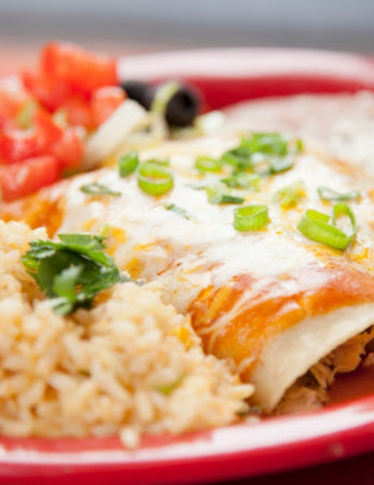 Sour Cream Enchiladas | Mexican Recipes | Pinterest