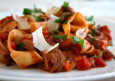 ... wink wink ;)....Braised Short Rib Ragu with Pappardelle. Delicious