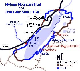 Fish lake bike trail map outdoors pinterest for Fish lake utah camping
