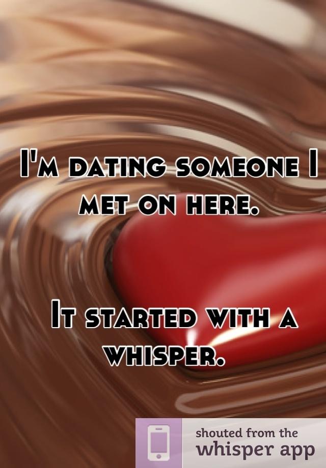 Whisper dating app