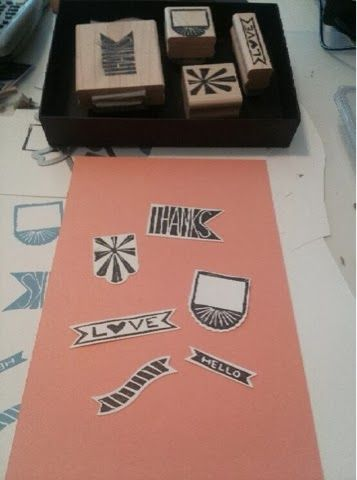 Stamps carved by Jen Capoot