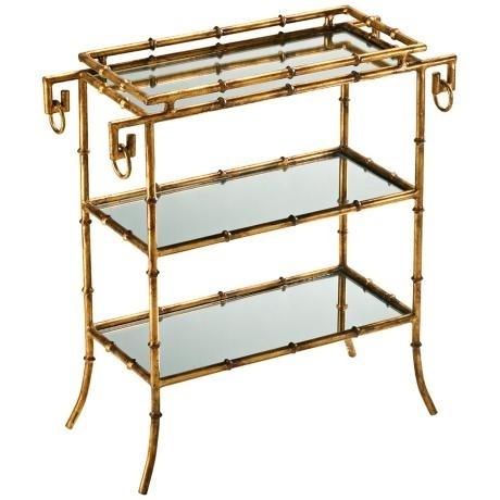 Gold Bamboo Bar Cart I Birthdays Brunches Teas