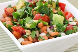 Pinto Bean Salad Recipe with Avocado, Tomatoes, Red Onion, and Cilant ...