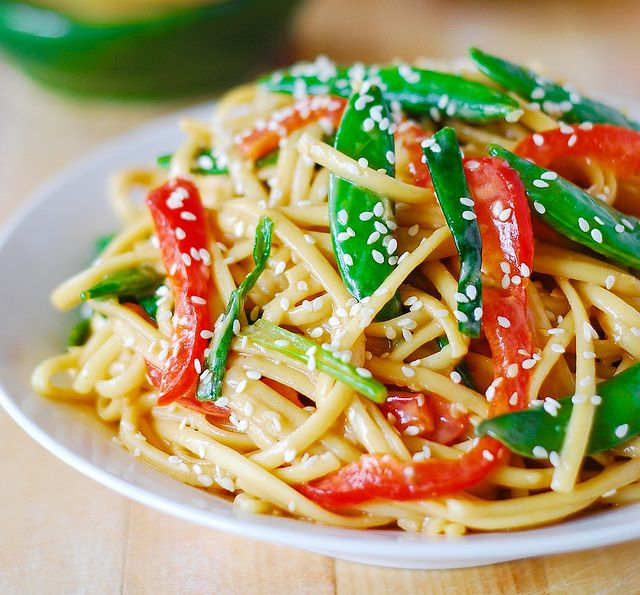 Asian noodle salad recipe ..vegetarian as is..but use agave nectar or ...