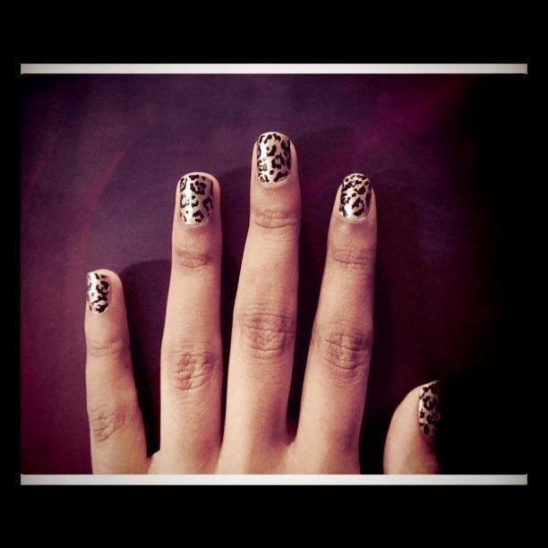 leopard print nails - nail design | Nails | Pinterest