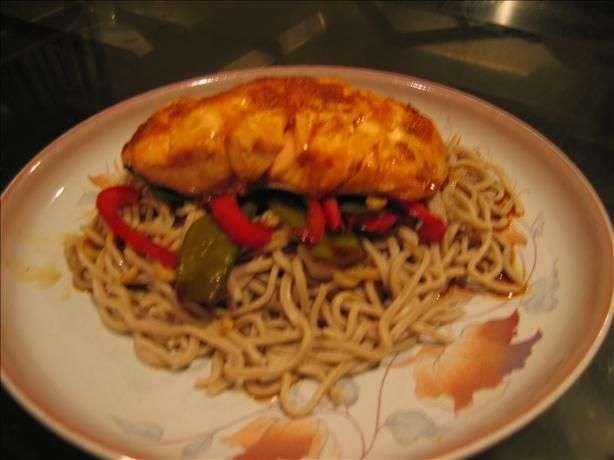 Ginger-Soy Salmon With Soba Noodles | Recipe