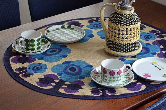 スウェーデンで見つけたテーブルクロス - カフェ、アンティーク マルカ - 神戸・北野の北欧カフェ&ヴィンテージ、kaffe antik markka