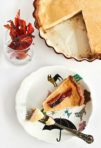 Maple Custard Pie & Candied Bacon by raspberri cupcakes, via Flickr