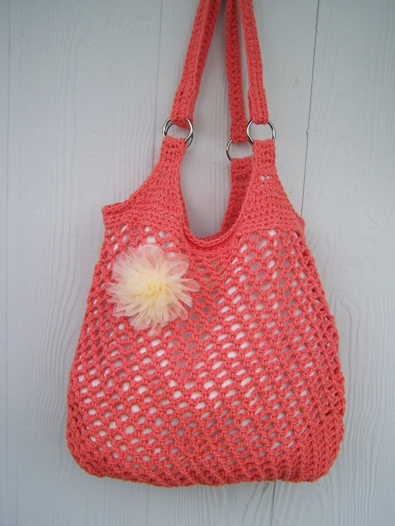 Hobo Bag Crochet : Crochet Hobo Bag TANGERINE diy Pinterest